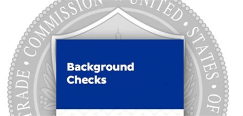 Background Check Alert Legislative Alert Does Ftc Want To Background Checks