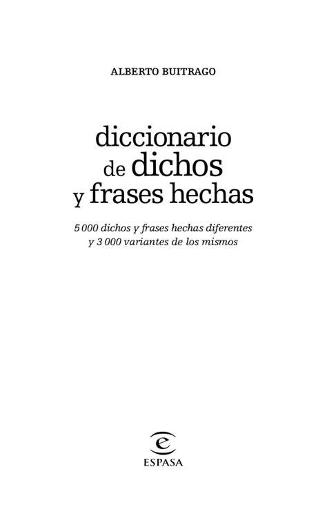 diccionario de dichos y diccionario de dichos y frases hechas jpr504