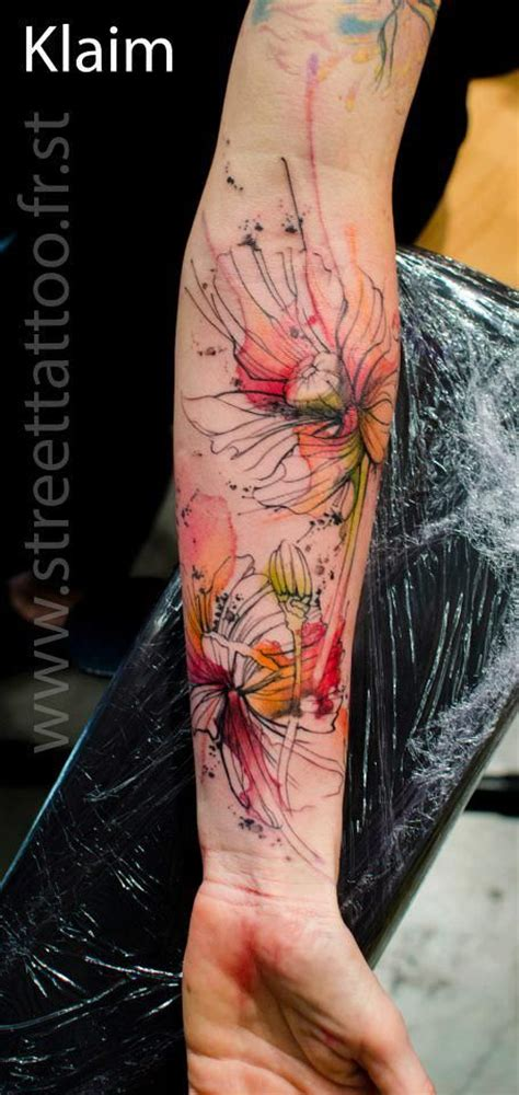 35 Artistic Watercolor Tattoo Designs For Men Flower Arm Tattoos