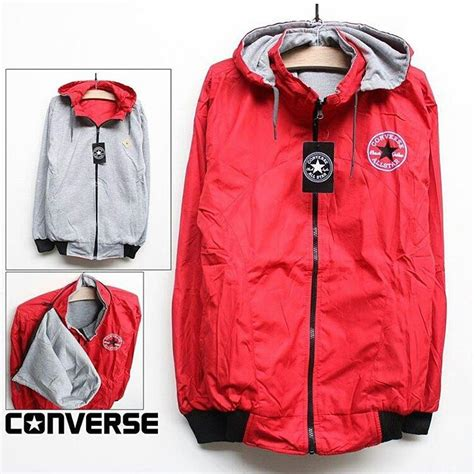 Converse Bahan Fleece All Size Fit To L Cowo M Cewe Grosir Jaket Murah jaket all size converse trip store
