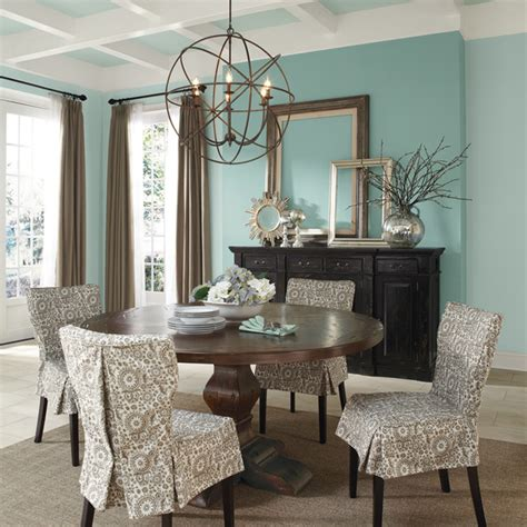 copen blue sw 0068 traditional dining room by sherwin williams