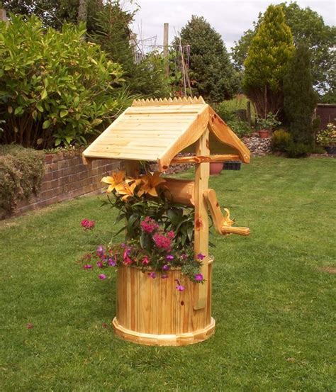 Wooden Wishing Well Planters by Wishing Well Planter By Andydachippy Lumberjocks