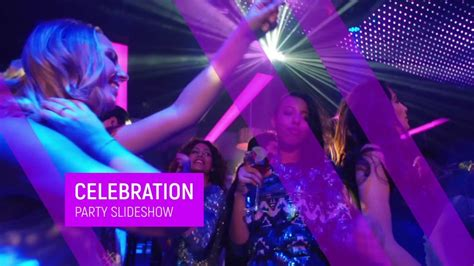 template after effects party celebration party slideshow after effects template