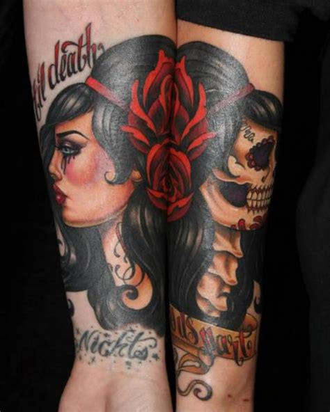 arm old gypsy tattoo by cartel ink works