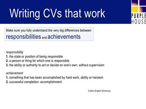 Writing Cvs by Writing Cvs That Work