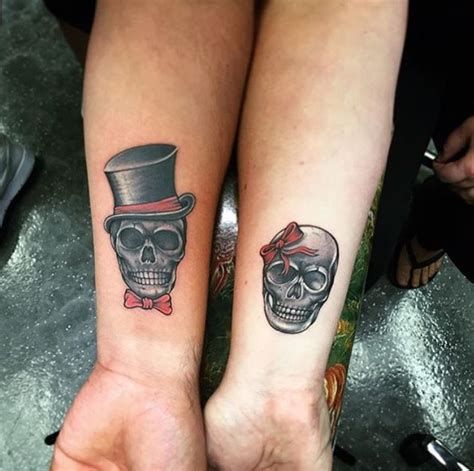 his and hers skull tattoos 20 unbelievably tattoos