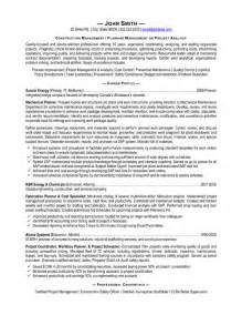 Construction Management Resume Templates by Resume Cover Letter Construction Manager Image Search Results