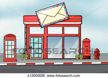 Post Office Search Clip Of A Post Office K12050026 Search Clipart Illustration Posters Drawings