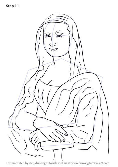 learn   draw mona lisa famous paintings step