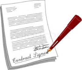 vector of contract clipart illustration