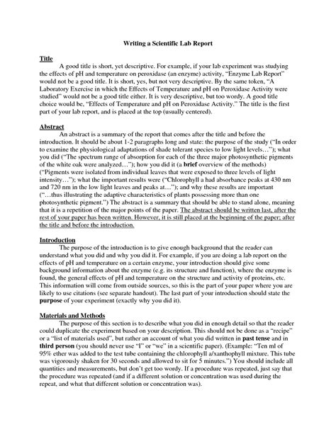 writing lab reports and scientific papers writing compare and contrast research paper nike