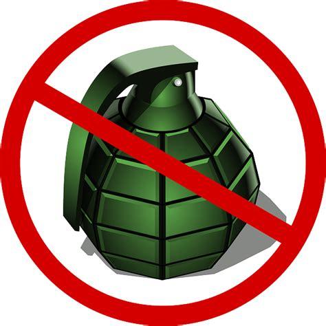 vector graphic grenade deny war peace
