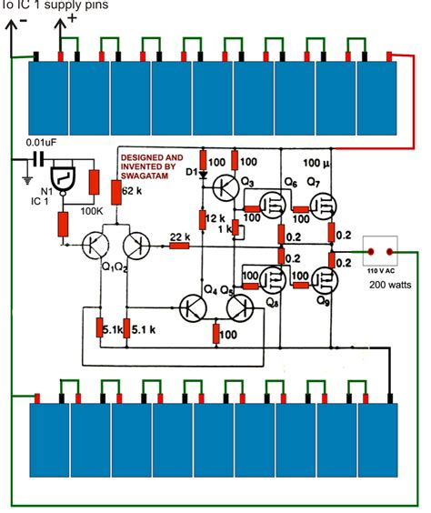300w inverter wiring diagram simple 220v 12v dc ac