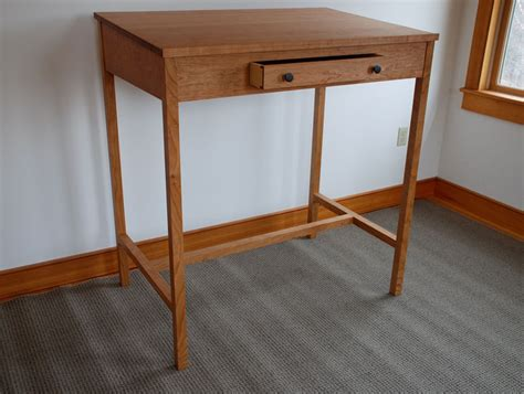 Handmade Computer Desk - cherry stand up computer desk custom shaker handmade