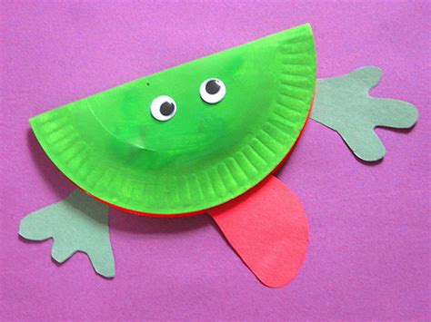 frog paper plate craft paper plate frog craft image search results