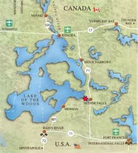 lake of the woods canada map getting to lake of the woods lodge