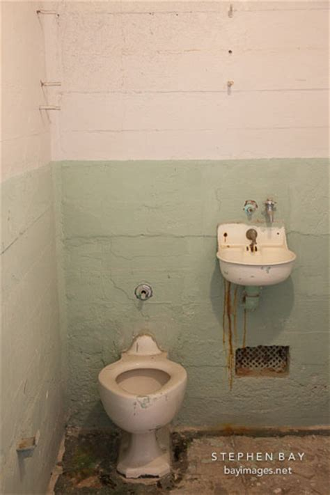 jail bathroom photo toilet and sink in cell alcatraz california