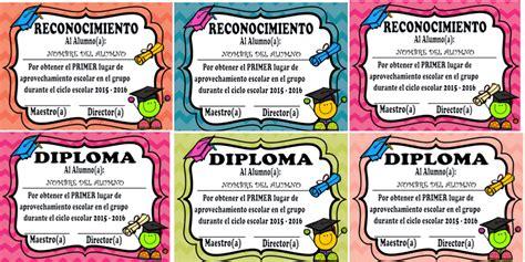 imagenes de reconocimientos escolares diplomas y reconocimientos editables para premiar a los