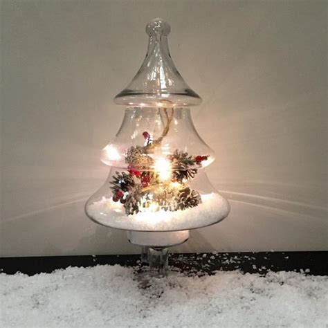 chridtmas tree glass jar cox and cox glass tree jar decoration the farthing