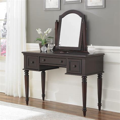 espresso bedroom vanity set home styles bermuda vanity mirror espresso finish home