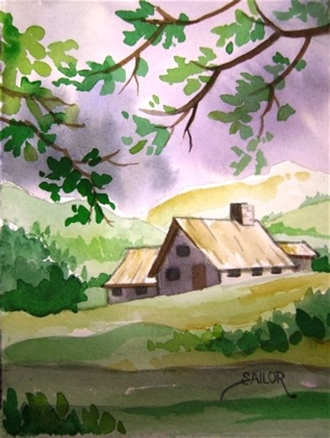 Easy Landscape Pictures To Paint Easy Watercolor Paintings Showing 20 Pics For Easy