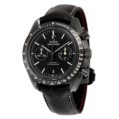 Black Master 01 omega speedmaster moonwatch pitch black side of the