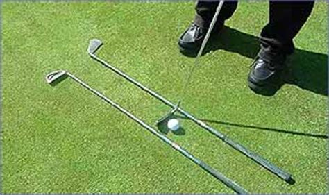 putting swing path bbc sport academy golf training try these whacky