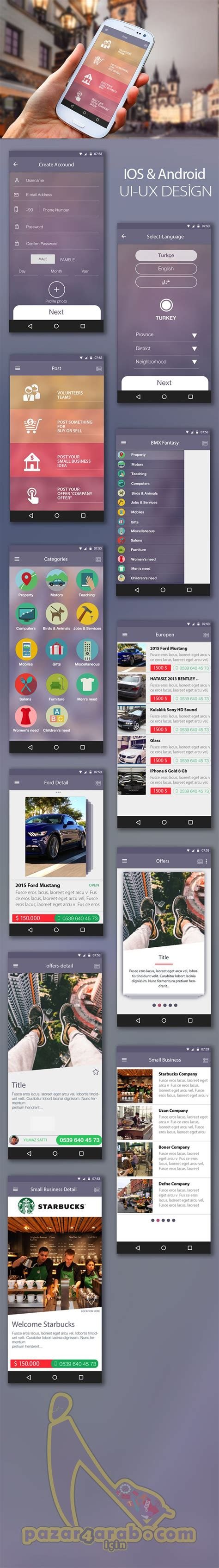 pinterest layout android best 25 mobile ui design ideas on pinterest app design