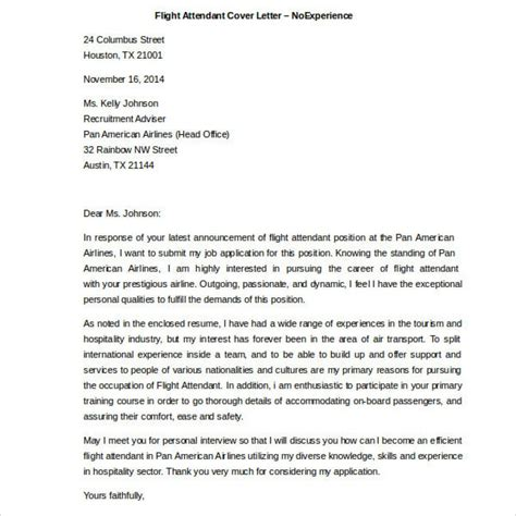 flight attendant cover letter no experience flight attendant cover letter exles inspiring flight