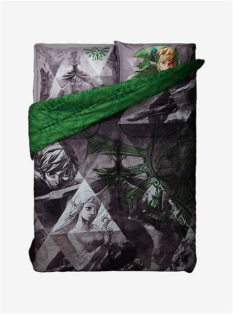 legend of zelda comforter nintendo the legend of zelda skyward sword reversible full