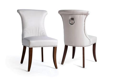best 25 white leather dining chairs ideas on