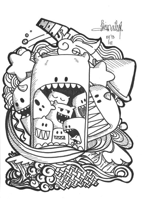Cute Doodle Coloring Pages Doodle Coloring Pages To Print