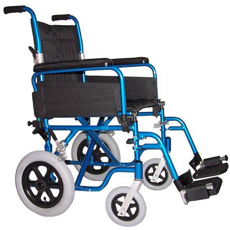 Wheel Chairs by U Go Esteem 16in Blue Alloy Transit Lightweight Wheelchair