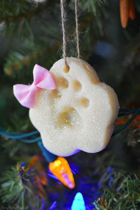 paw print ornament diy paw print salt dough ornaments savvy saving