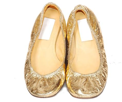 Golden Flats by Shoes Costume Gold Flats Gold Flats