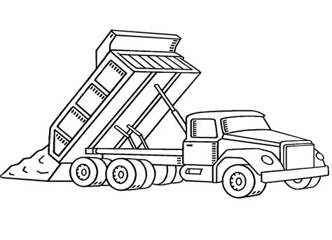 printable coloring pages trucks printable dump truck coloring pages pictures
