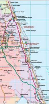 east coast florida map cities central east florida road map showing towns cities