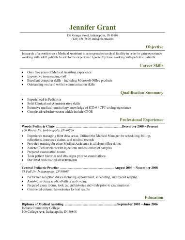 physician assistant resume template physician resume resume cv