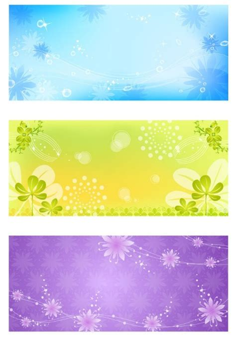 free fresh and elegant floral banner design templates