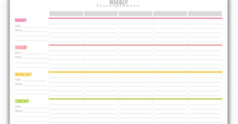 printable lesson plan calendar 2016 free weekly printable calendar template 2016