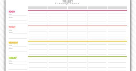 Free Download Lesson Plan Template My Strawberry Baby Free - Free printable weekly lesson plan template