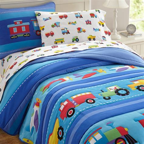 Bedding Sets For Toddlers Olive Trains Planes Trucks Toddler Comforter Boys Bedding Preschool Bed Sets