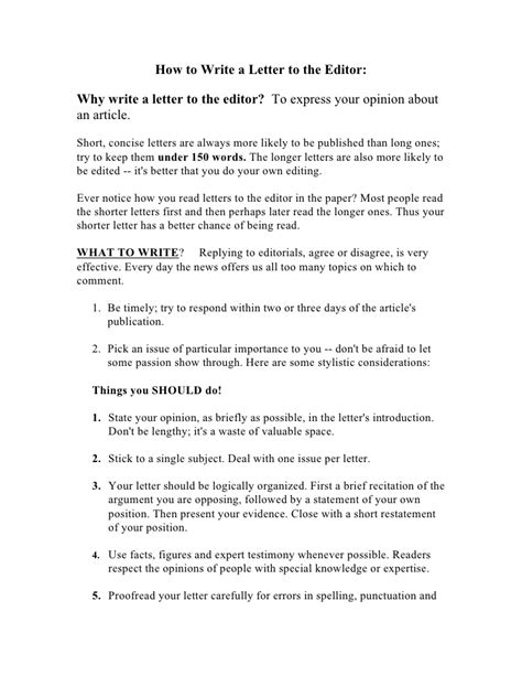 how to write a letter to the editor how to write a letter to the editor