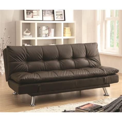 Room Futon by Coaster Dilleston Sofa Bed In Futon Style With Chrome Legs