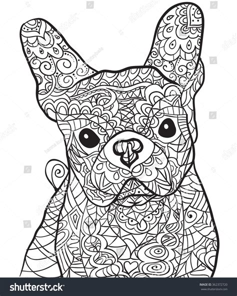 Hand Drawn Dog Bulldog . Isolated On Transparent