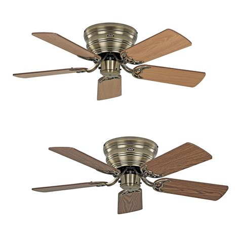 classic ceiling fans ceiling fan classic flat antique brass extra flat in