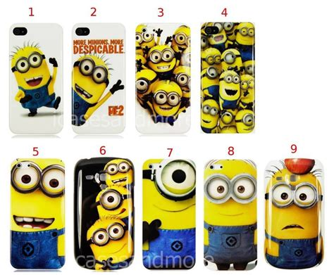 Iphone 4 4s Minions Pattern Hardcase despicable me minions high quality plastic