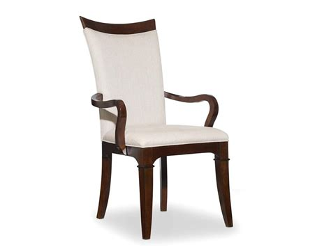 Upholstered Dining Chair With Arms Upholstered High Back Dining Chair With Wooden Arms