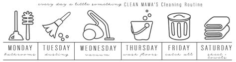 weekly cleaning routine clean mama