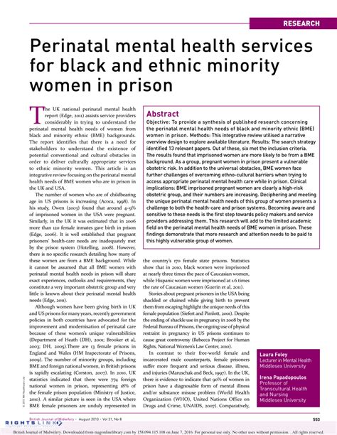 the and minority groups a manual prepared for use in the chicago park district school classic reprint books perinatal mental health services for black and ethnic